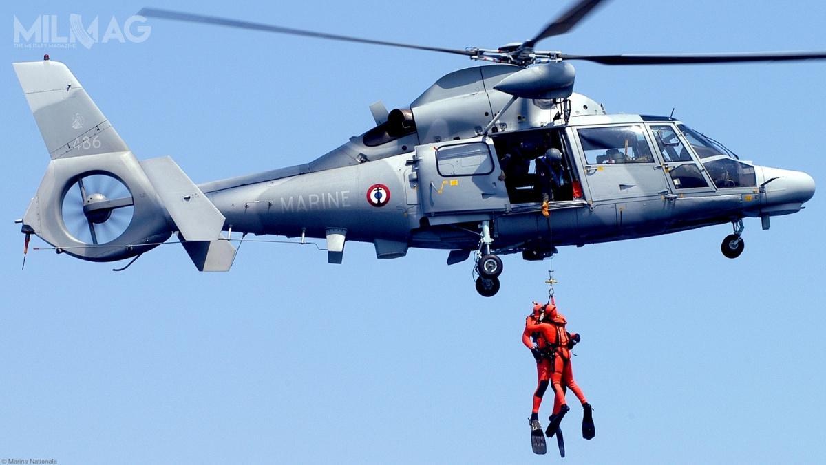 Wśród ofert znalazł się Airbus Helicopters AS565 Panther, którymoże być wykorzystywany jako lekki śmigłowiec szturmowy, śmigłowiec bezpośredniego wsparcia pola walki, zwalczania okrętów podwodnych, poszukiwawczo-ratowniczy czyewakuacji medycznej. /Zdjęcie: Marine Nationale