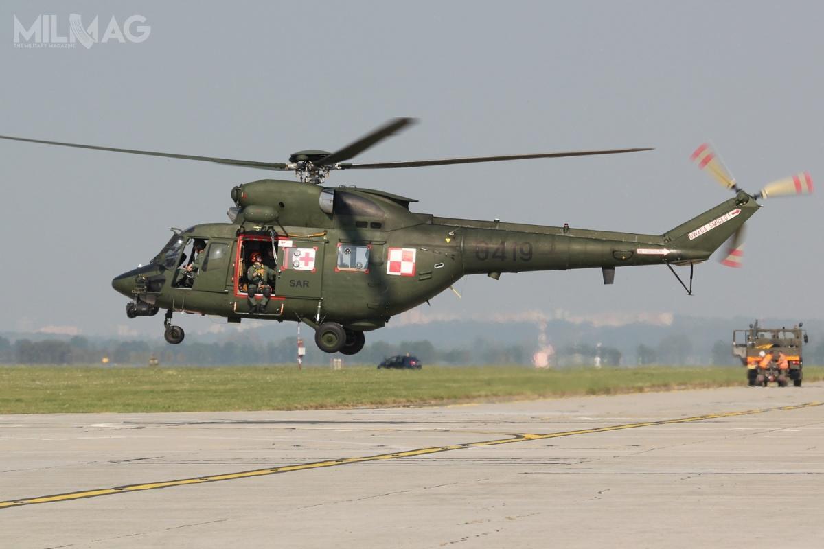 Prace modernizacyjne mogą objąć cztery zsiedemnastu W-3 Sokół, które są nawyposażeniu Sił Powietrznych RP itrafią dojednej ztrzech Grup Poszukiwawczo-Ratowniczych. /Zdjęcie: PZL-Świdnik