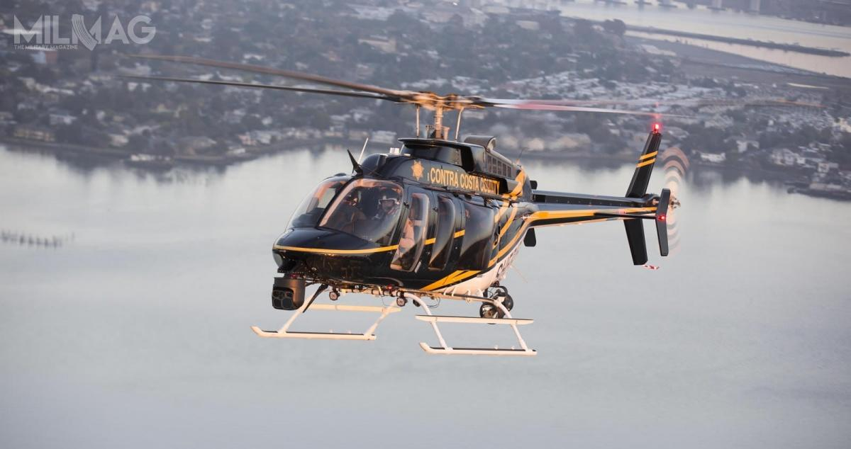 Policja rozpoczęła postępowanie nadostawy systemu obserwacji lotniczej dla trzech zamówionych  wlutym śmigłowców Bell 407 GXi / Zdjęcie: Bell