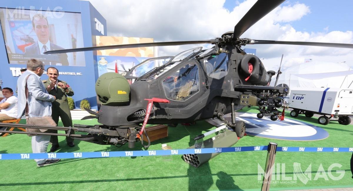 Od 2014 jedynym użytkownikiem 35 z59 zamówionych T129 ATAK są wojska lądowe iżandarmeria wojskowa Turcji. /Zdjęcie: Jakub Link-Lenczowski