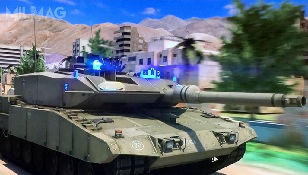 Trophy HV składa się zradiolokatorów wykrywających zagrożenia wokół chronionego pojazdu orazefektorów MEFP (Multiple Explosively Formed Penetrator), które niszczą nadlatujące pociski. / Grafika: Rafael Advanced Defense Systems