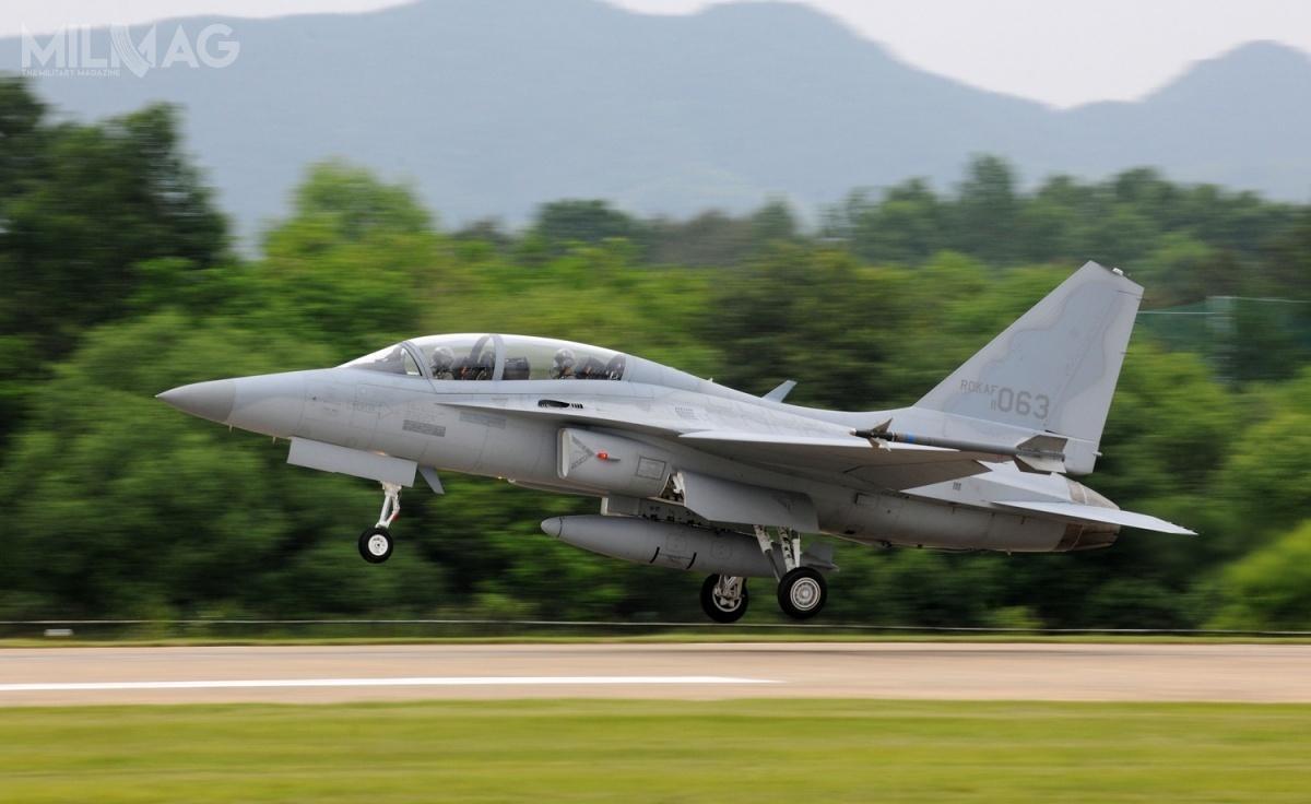 Zamówionym F/T-7X jest prawdopodobnie południowokoreański lekki samolot szkolno-bojowy KAI T-50A Golden Eagle, którybył oferowany USAF wpostępowaniu T-X przezspółkę Lockheed Martin / Zdjęcie: ROKAF
