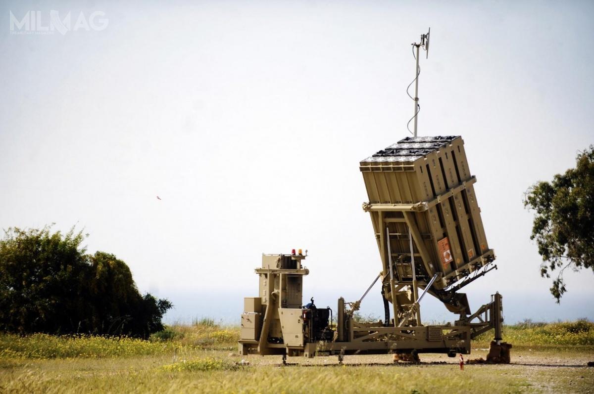 Iron Dome, opracowany przezRafael Advanced Defense Systems iIsrael Aerospace Industries (IAI), namocy poroumienia z16 sierpnia 2011 zamerykańskim koncernem Raytheon jest oferowany jako SkyHunter. Zakupem dwóch baterii dotestów są zainteresowane US Army / Zdjęcie: Siły Obronne Izraela