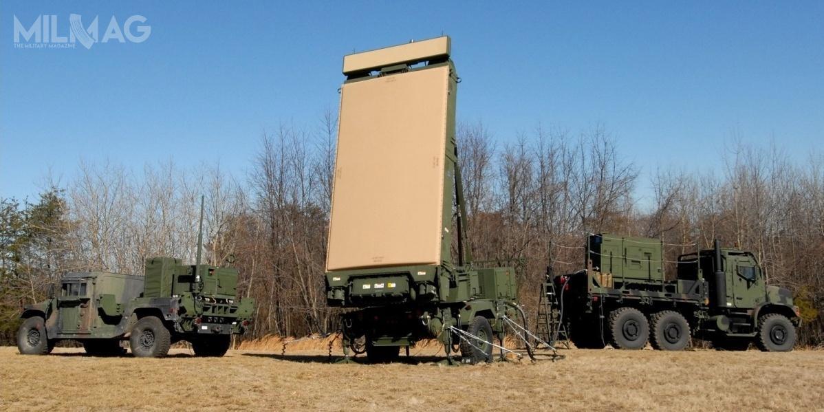 Jeden zestaw radiolokacyjny AN/TPS-80 G/ATOR składa się zmodułu komunikacyjnego (CEG), umieszczonego napodwoziu HMMWV, stacji radiolokacyjnej naprzyczepie (REG) wraz zciągnikiem MTVR 6x6 orazgeneratora prądotwórczego (PEG) napodwoziu MTVR 6x6 / Zdjęcie: Northrop Grumman