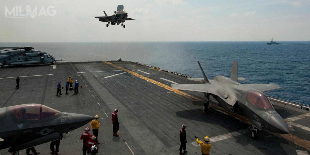 Amerykańskie F-35B operują zokrętów desantowych typu America iWasp, awkrótce zostaną rozmieszczone nabrytyjskim lotniskowcu HMS Queen Elizabeth.