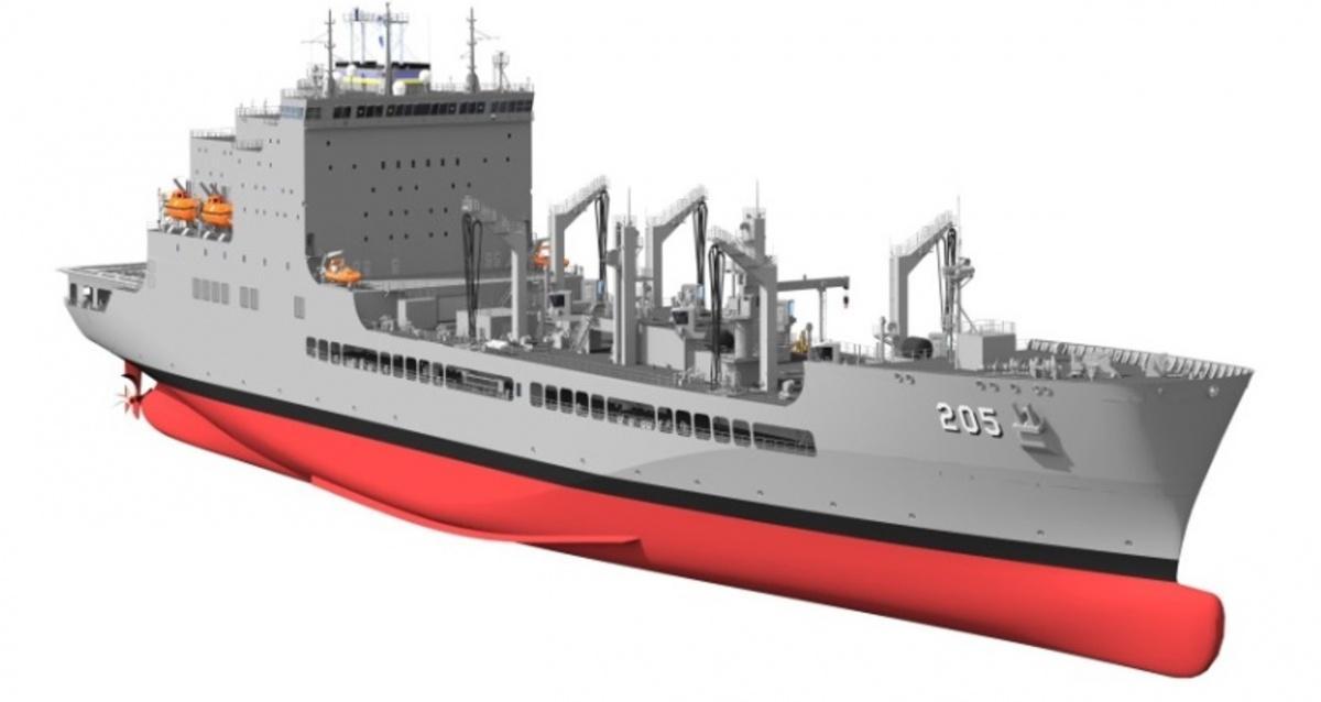Nazwa okrętu icałego typu pochodzi odnazwiska obrońcy praw człowieka idługoletniego kongresmena zPartii Demokratycznej Johna R. Lewisa, którybył obecny podczas uroczystości położenia stępki. Matką chrzestną została aktorka Alfre Woodard/ Grafika: General Dynamics - National Steel and Shipbuilding.