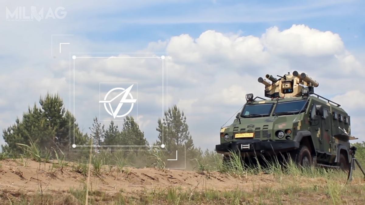 Podczas testów nowy zsmu zppk Skif został posadowiony nakołowym transporterze piechoty Varta 4×4