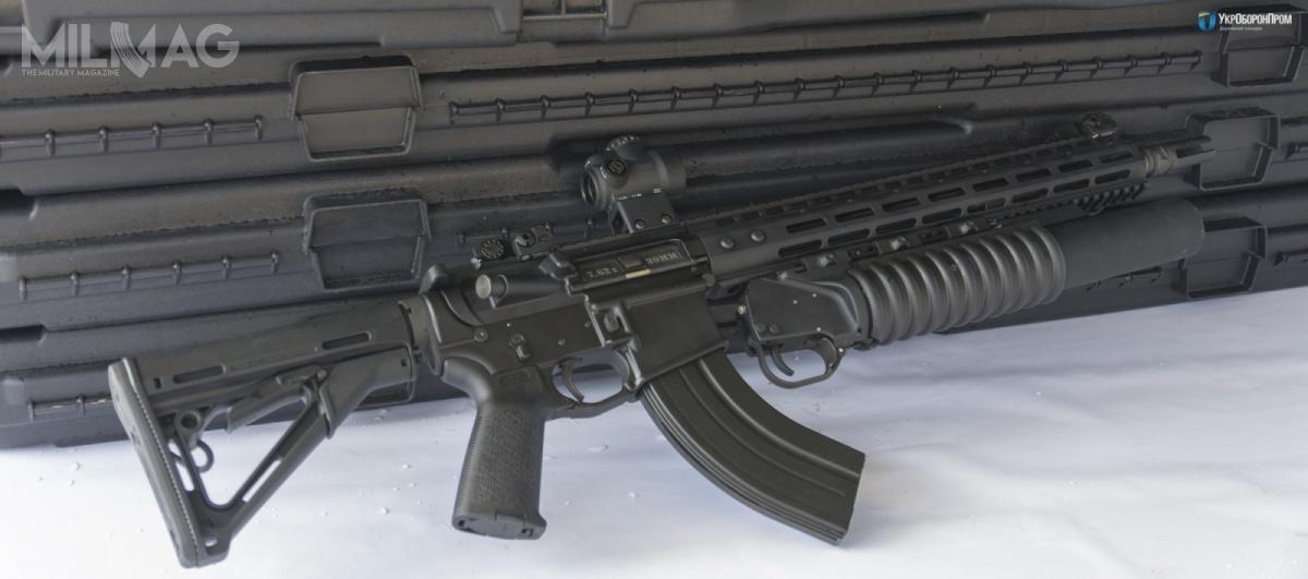 Główny model M4-WAC-47 strzela nabojem 7,62 mm x 39, stosowanym wukraińskiej armii. Zasilanie odbywa się zniestandardowych, komercyjnych magazynków pasujących dogniazda AR-15. Zewzględu nakształt amunicji 7,62 mm x 39 ich kadłuby są silnie wygięte /Zdjęcia: Ukroboronprom