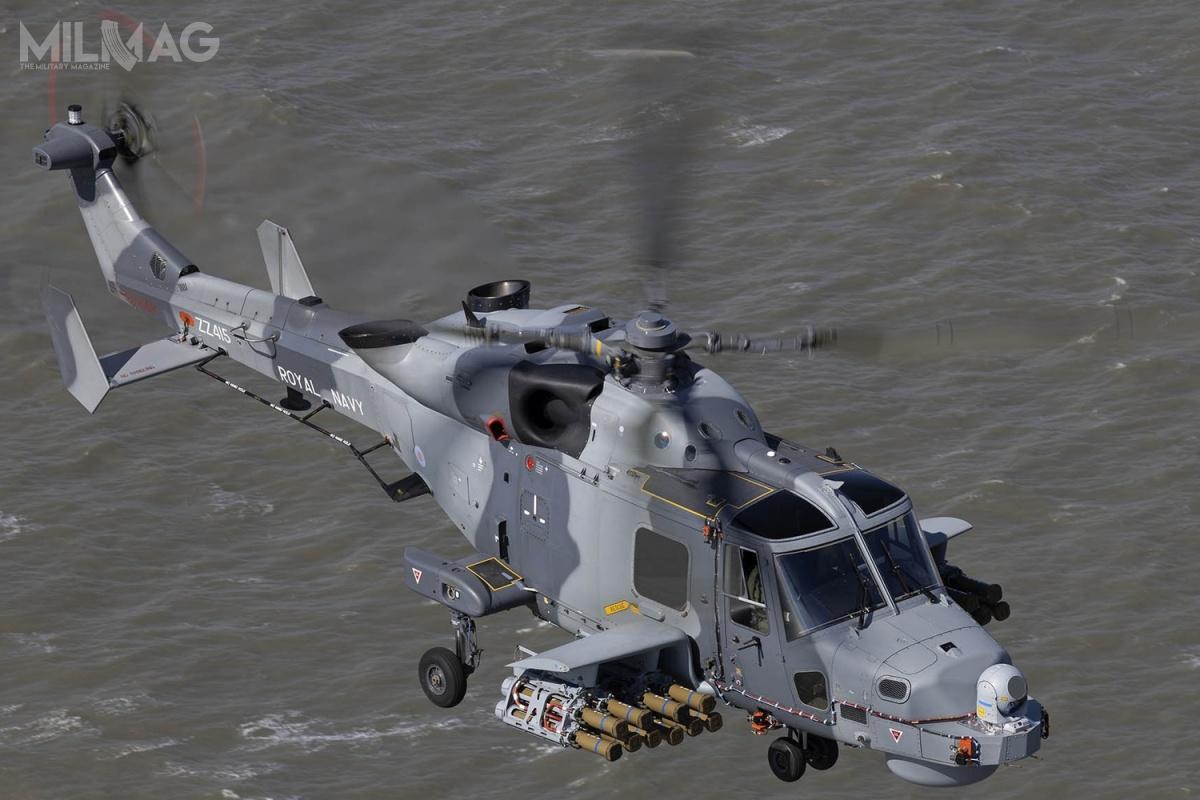 Wielozadaniowe śmigłowce pokładowe Leonardo AW159 Lynx są nawyposażeniu sił zbrojnych Wielkiej Brytanii, Filipin iKorei Południowej. Co ciekawe, 6-tonowy wiropłat spełnia wstępne wymogi postawione przezInspektorat Uzbrojenia MON wdialogu technicznym nazakup od4do8wielozadaniowych morskich śmigłowców pokładowych okryptonimie Kondor dla Marynarki Wojennej RP