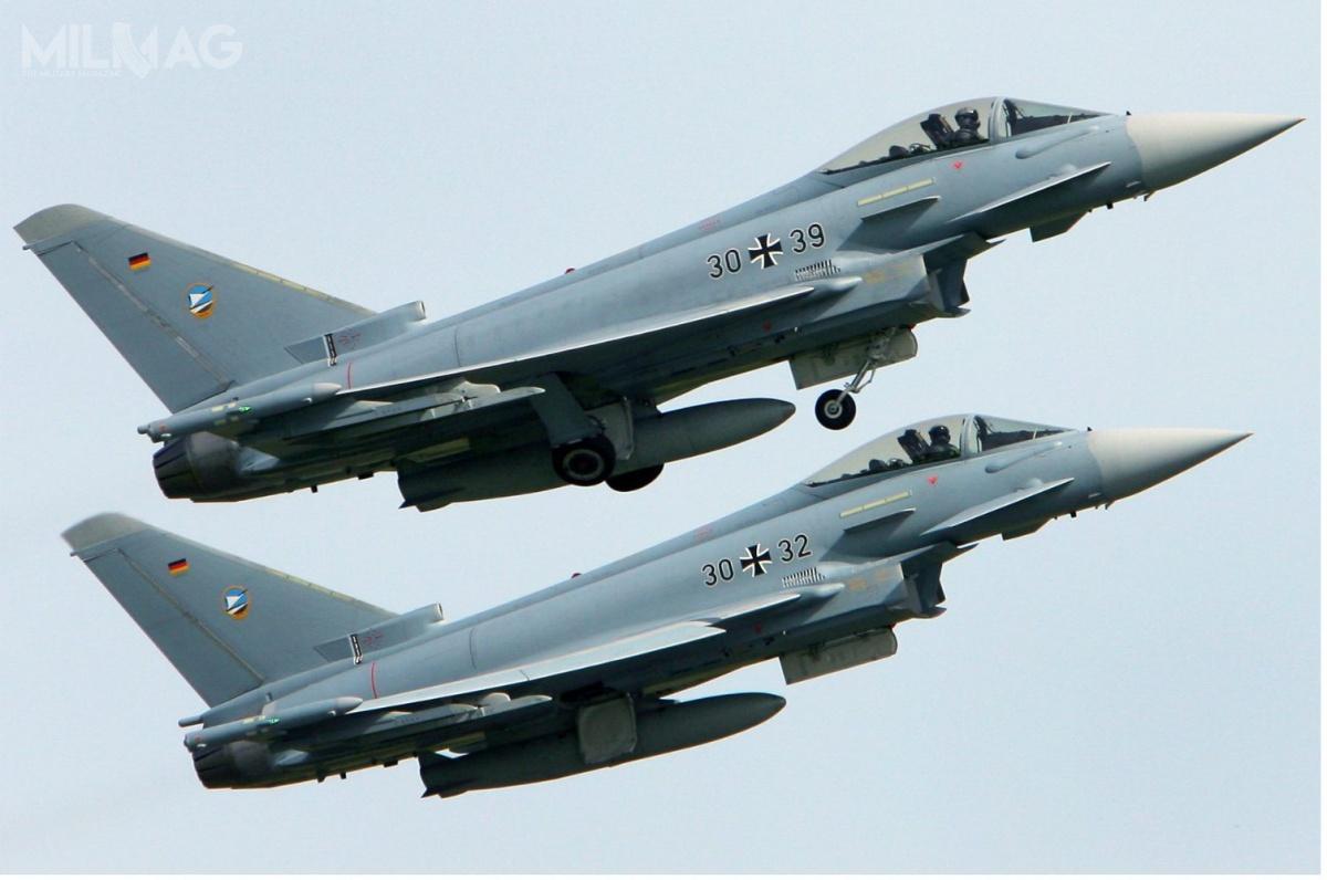 Do chwili wypadku Luftwaffe operowała 138 samolotami Eurofighter Typhoon Tranche 1i2ze141 zamówionych. Są zgrupowane wczterech eskadrach / Zdjęcie: Luftwaffe