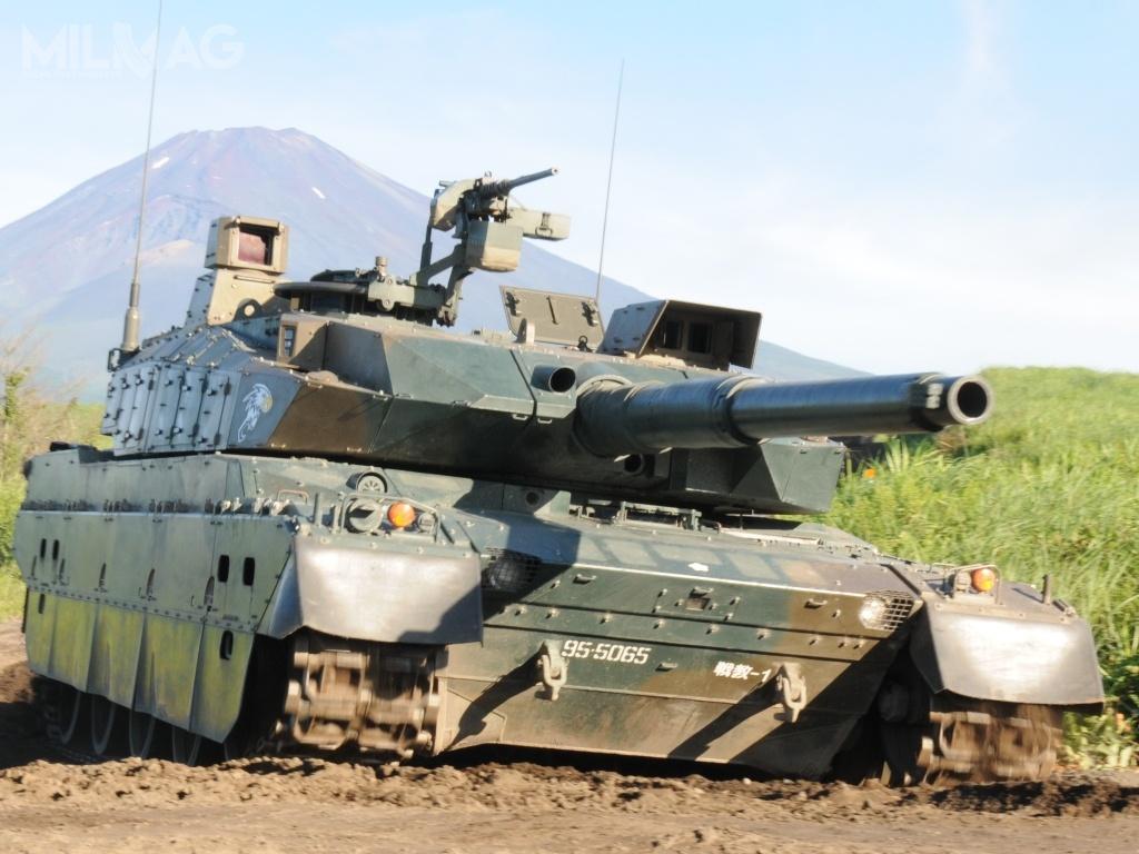 Uzbrojeniem głównym czołgu typu 10 jest 120-mm armata gładkolufowa, produkowana przezJapan Steel Works.  Uzbrojenie dodatkowe to12,7-mm wkm M2HB. Załogę stanowi 3żołnierzy. Pojazd jest napędzany 1200-konnym silnikiem wysokoprężnym