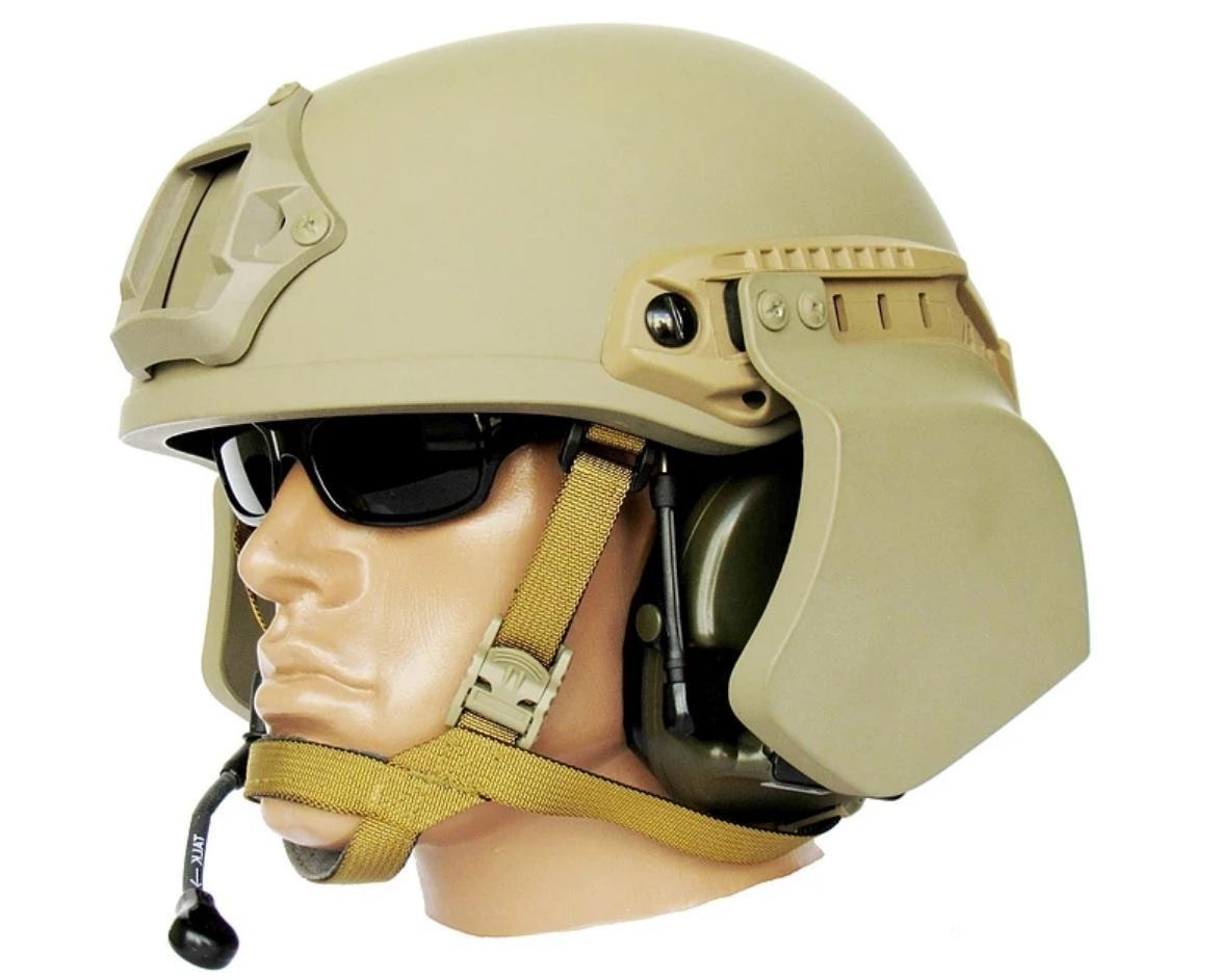 Boczna osłona balistyczna ZBB-O Błok tokomplet dwóch profilowanych płyt osłaniających okolice uszu whełmach typu high-cut TOR-D
