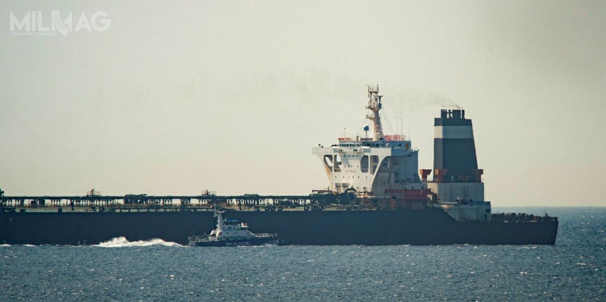 Aresztowaia załogi zbiornikowca VLCC Grace-1 dokonała Królewska Policja Gibraltaru, wspierana przezRoyal Marines / Zdjęcie: Rada Ministrów Gibraltaru