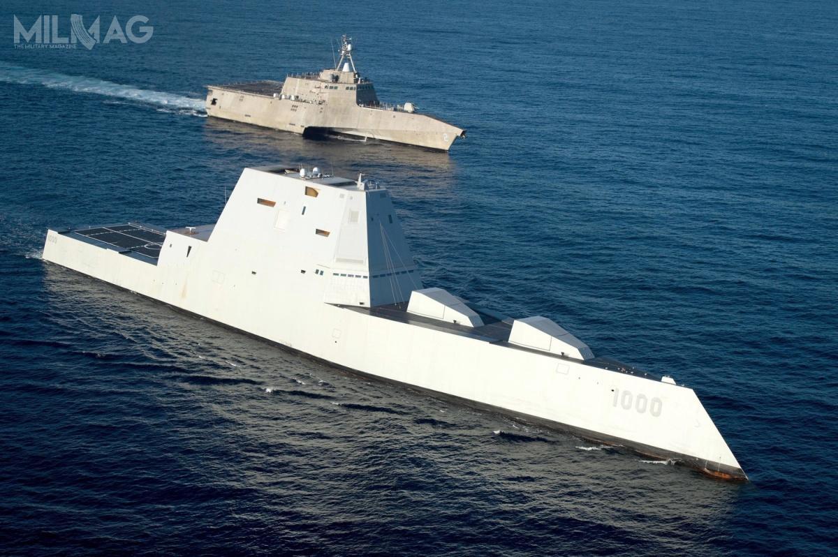 Pierwotnie zakładano zakup 32 niszczycieli rakietowych typu Zumwalt, leczostatecznie US Navy zdecydowała się nazakup jedynie trzech znich.