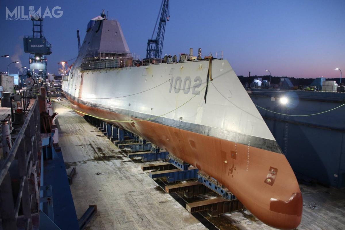 Zamówienie naokręt złożono 16 września 2011 wraz zniszczycielem nrdwa załącznie 1,826 mld USD (6,87 mld zł), a16 kwietnia 2012 ogłoszono jego przyszłą nazwę nacześć 36. prezydenta USA wlatach 1963-1969 (będzie to34. okręt US Navy nazwany nacześć głowy państwa). Stępka została położona 30 stycznia 2017.
