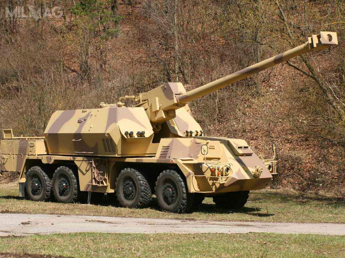 Zuzana 2została wyposażona wnową, 155-mm lufę odługości 52 kalibrów / Zdjęcie: Konštrukta-Defence