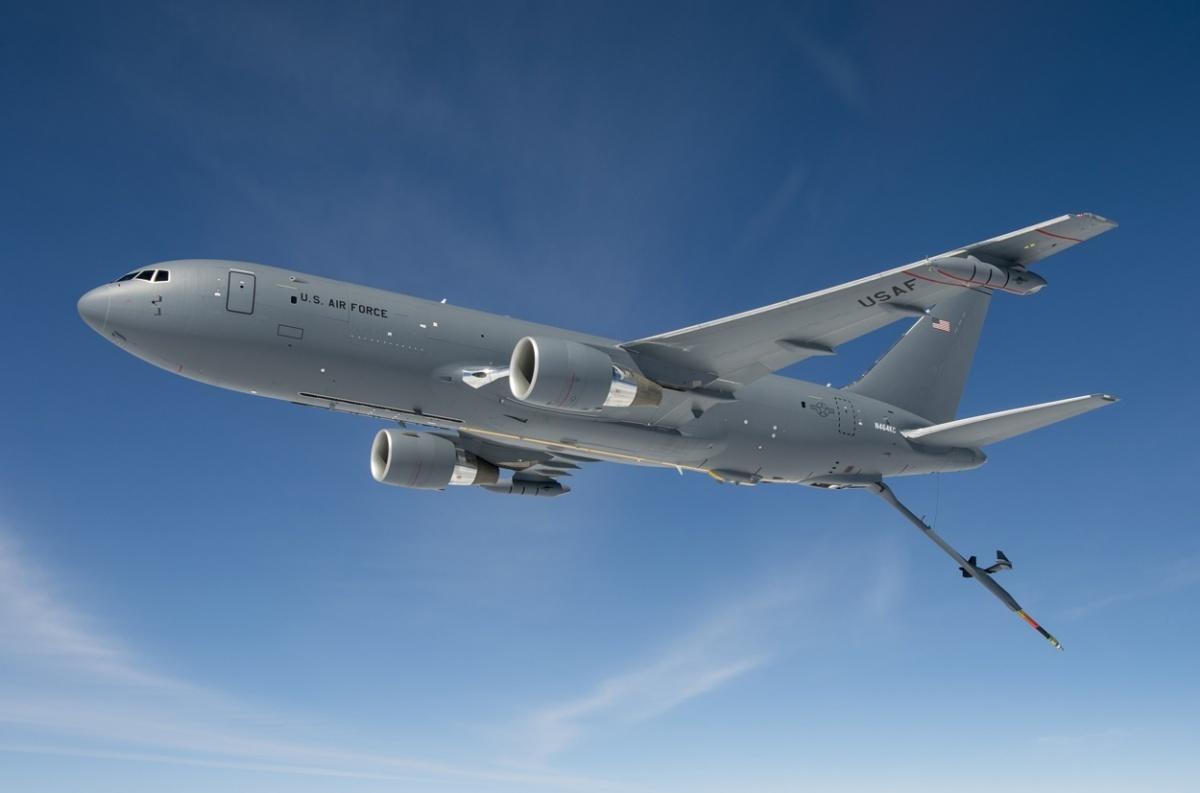 Co ciekawe, władze wTel Awiwie miały zgodzić się nazakup czterech, anieośmiu wcześniej zadeklarowanych samolotów transportowo-tankujących KC-46A Pegasus. / Zdjęcie: Boeing