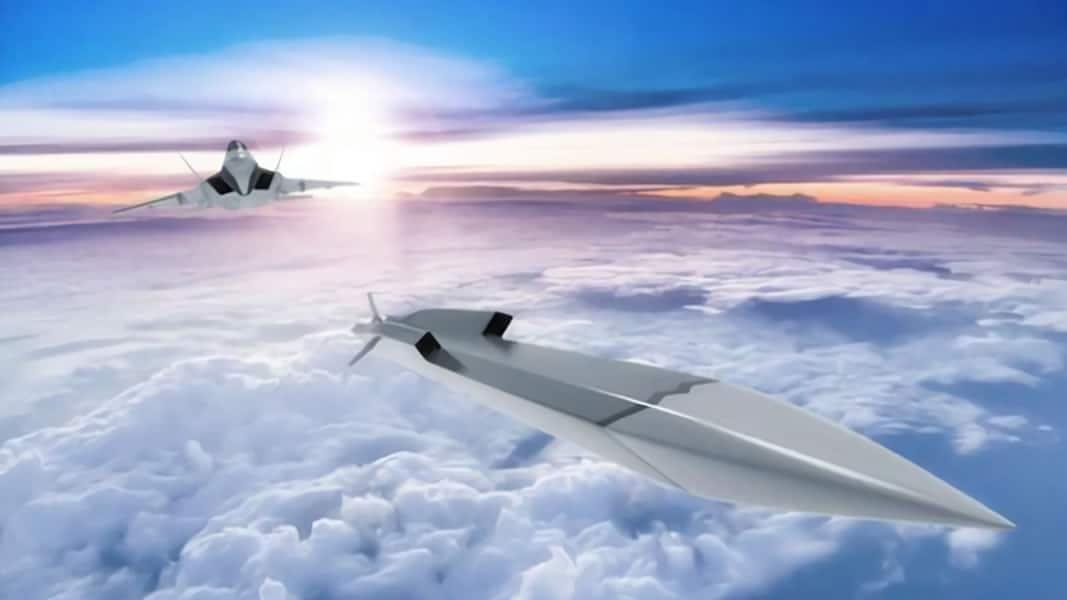 Koreańska Agencja DoSpraw Obronnych ADD zaprezentowała wizję ponaddźwiękowego pocisku przeciwokrętowego dla samolotów wielozadaniowych nowej generacji, rozwijanych wramach programu KF-X / Grafika: ADD