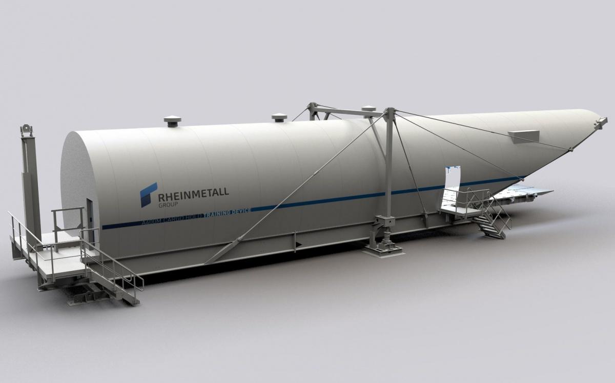 Rheinmetall AG zbuduje idostarczy dla niemieckich wojsk lotniczych dwa dodatkowe symulatory ładowni samolotów transportowych Airbus A400M-180 Atlas / Grafika: Rheinmetall AG