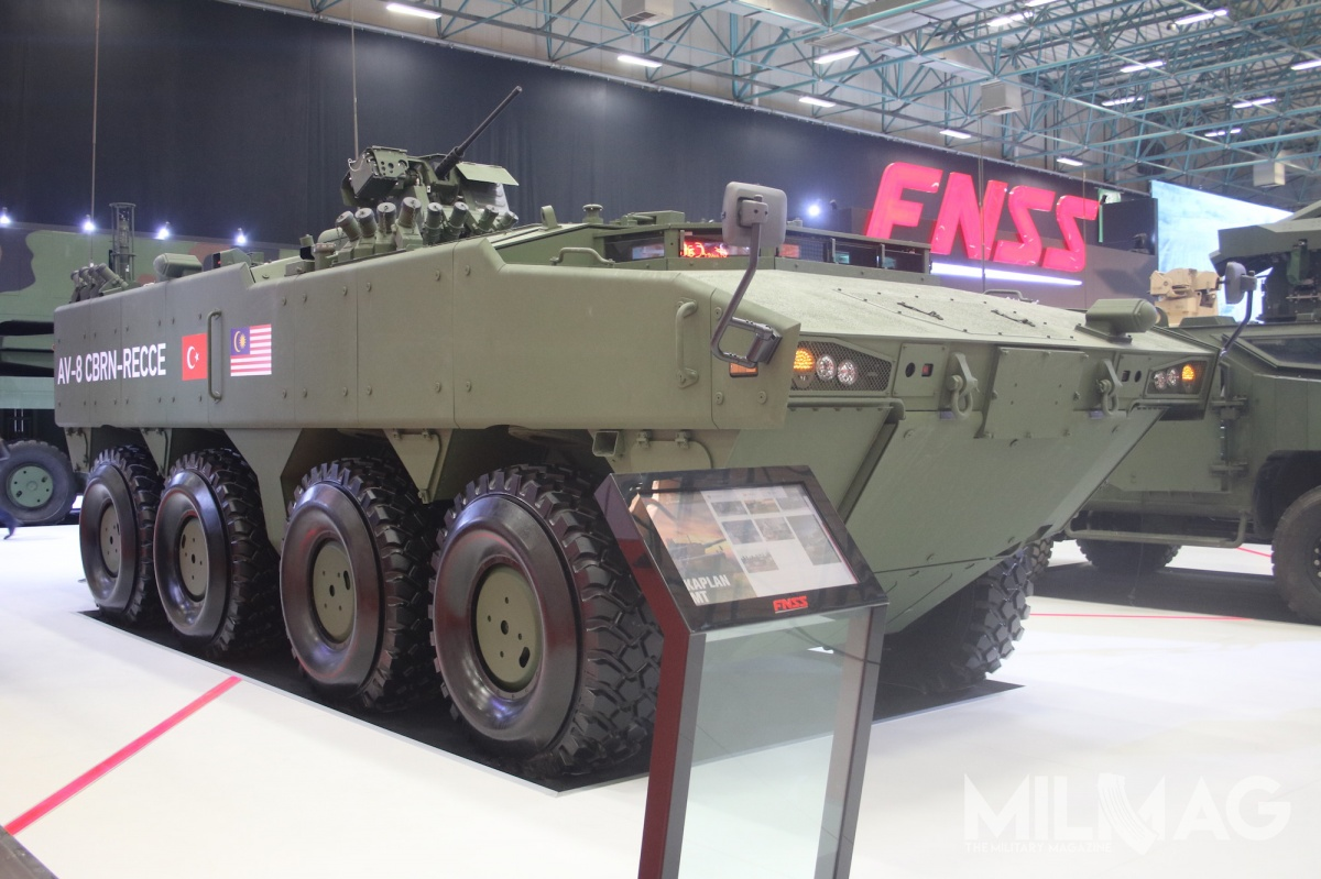 It's worth mentioning that Malaysian AV-8 Gempita armoured, wheeled vehicles are being equipped with the TOPAZ internal communication systems provided by the Polish WB Electronics company / Picture: Michal Jarocki