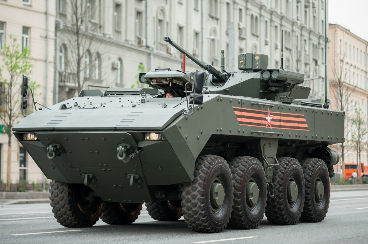 Rosoboronexport has begun promoting the newest Bumerang 8x8 universal combat platform on foreign markets / Picture: Dmitriy Fomin, Wikipedia, CC BY 2.0